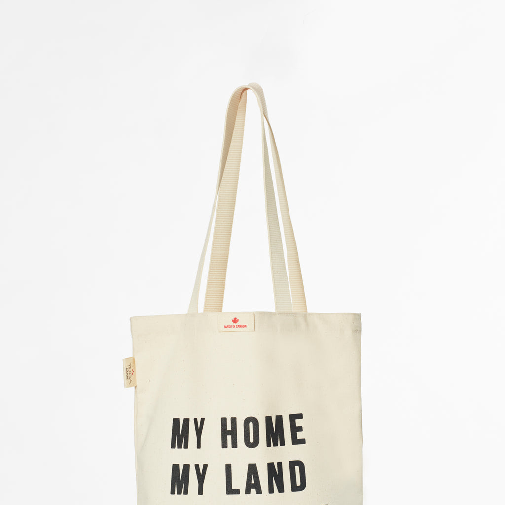 My Home, My Land, My Canada Tote Bags
