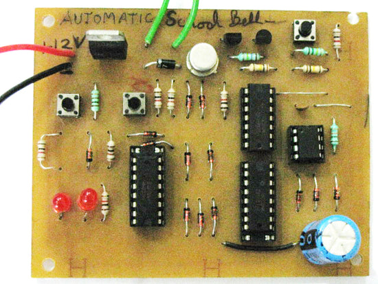 Automatic School Bell Full Circuit Diagram With Explanation. Automatic School Bell. Wiring. School Bell Wire Diagram At Scoala.co