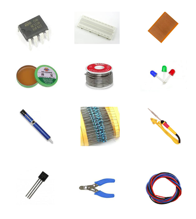 Basic Electronic Kit + Soldering Kit For Starters