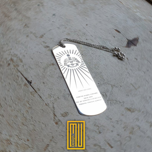 Masonic Bookmark 925K Sterling Silver