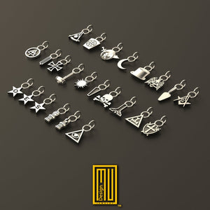Charms For The King Style Chain Bracelet 925K Sterling Silver