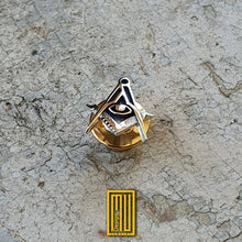 Master degree Lapel Pin with All seeing eye 925K Sterling Silver