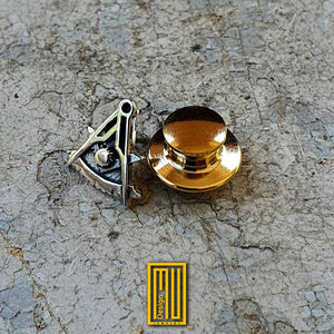 Past Master Lapel Pin 18k 14k Gold or 925k silver