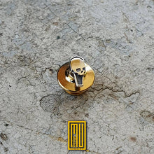 Masonic Lapel Pin Coffin with Skull 925K Sterling Silver