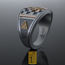 Band style Masonic Ring With Eagle