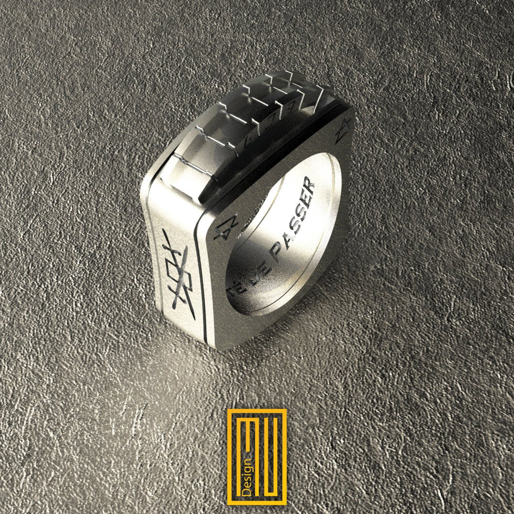 A.A.S.R. Sterling Silver Ring With Gabara Bridge