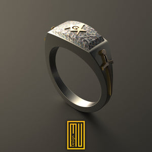 Ring For Knights with Golden Swords, S&C And Rough Ashlar on Top