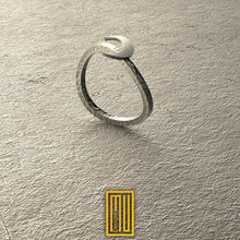 Golden body Moon and Sun Handmade Hammered Ring