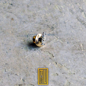Master Degree Acacia Lapel Pin 925k Sterling Silver