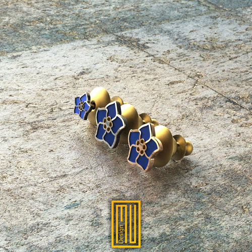 Forget Me Not Lapel Pin with Enamel