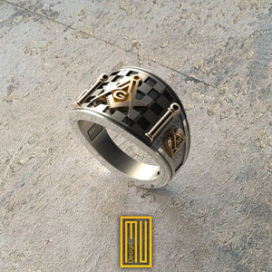 Band style ring with Mystic Shrine Scimitar