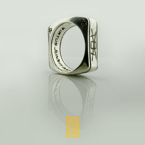 A.A.S.R. Sterling Silver Ring