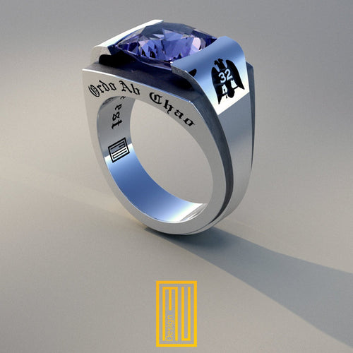 AASR 32nd Degree Masonic Rings with Amethyst gemstone