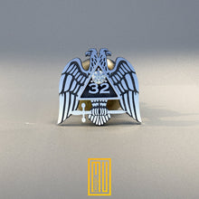 A.A.S.R 32nd Degree Lapel Pin with Cubic Zirconia