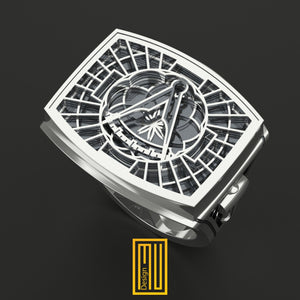 Past Master Ring Special cut 10 level 925k Sterling Silver