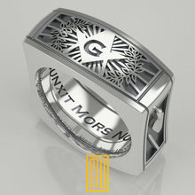 Masonic Ring Square Style