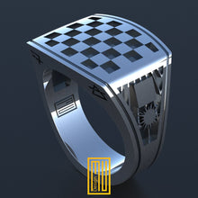 Masonic Tile Ring Unique Design for Men 925K Sterling Silver 2015 edition