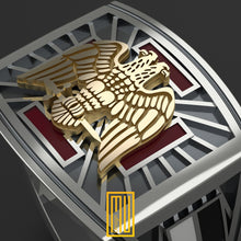 AASR 30th Degree Ring with Golden Eagle