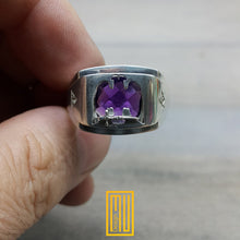 AASR 32nd Degree Masonic Ring with Amethyst Gemstone