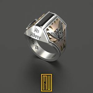 A.A.S.R. 32nd Degree Double-Headed Eagle Masonic Ring