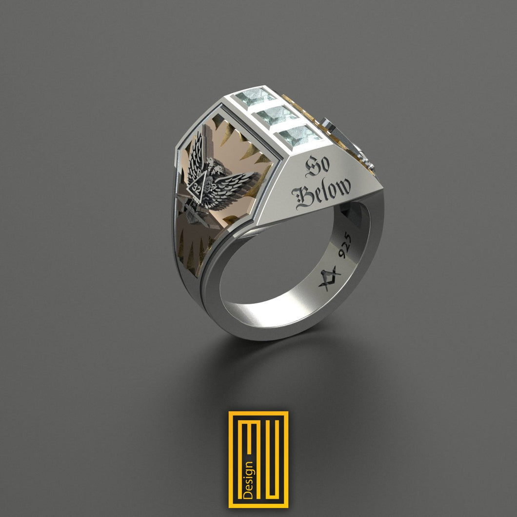 A.A.O.N. Mystic Shrine and A.A.S.R. 32nd degree Ring