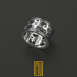Order of Eastern Star Ring Unique Design for Women  925k Sterling Silver