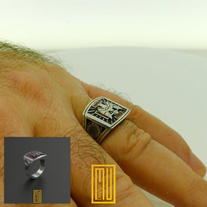 AASR 30th Degree Ring with Silver Eagle