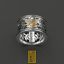 A.A.S.R. 33rd Degree Masonic Ring with Diamond