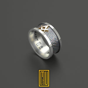 Wedding Style Masonic Ring