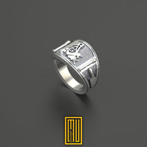 Louisiana State Sign Masonic Ring