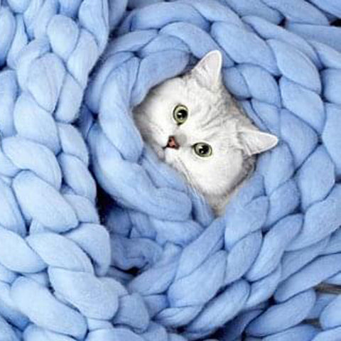 PURRFECT COMFORT KNITTED BLANKET