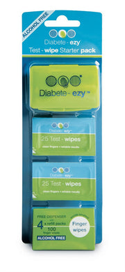 Diabetes HQ - Diabete-ezy Test Wipe Starter Pack