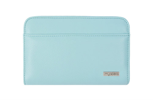 Diabetes HQ - Myabetic - Banting Diabetes Wallet - Paradise Blue Leatherette