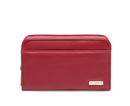 Diabetes HQ - Myabetic - Banting Diabetes Wallet - Crimson Red Leatherette