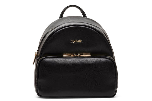 Diabetes HQ - Myabetic - Brandy Diabetes Backpack - Black Leatherette