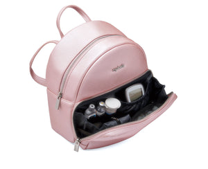 Diabetes HQ - Myabetic - Brandy Diabetes Backpack - Pink Leatherette