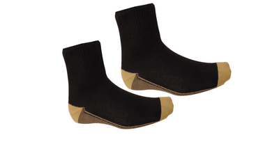 Diabetes HQ - Diabetic Unisex Socks - Black - Three Sock Pack