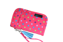 Diabetes HQ - Sugar Medical - Hot Pink Dot - Diabetes Universal Supply Case - Wallet