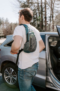 Diabetes HQ - Diabetes Insulated Sling Backpack - Storm