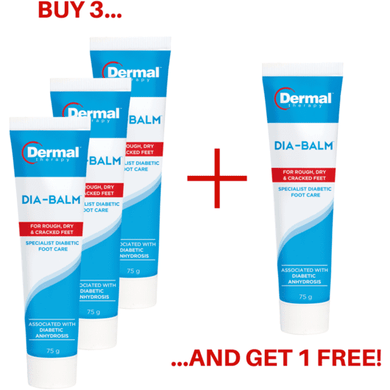 Diabetes HQ - Dia-Balm Specialised Foot Cream - Buy 3 Get 1 Free 1
