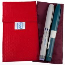 Diabetes HQ - Glucology - 2 x Pen Red - Diabetes Insulin Cooling Pouch | Wallet