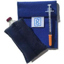 Diabetes HQ - Glucology - Small Blue Vial - Diabetes Insulin Cooling Pouch | Wallet
