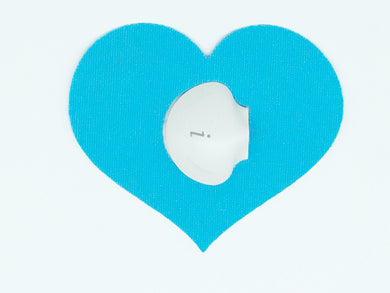 Diabetes HQ - Waterproof _Medtronic_CGM_Patches _Heart shape_blue_diabeteshq.com.au