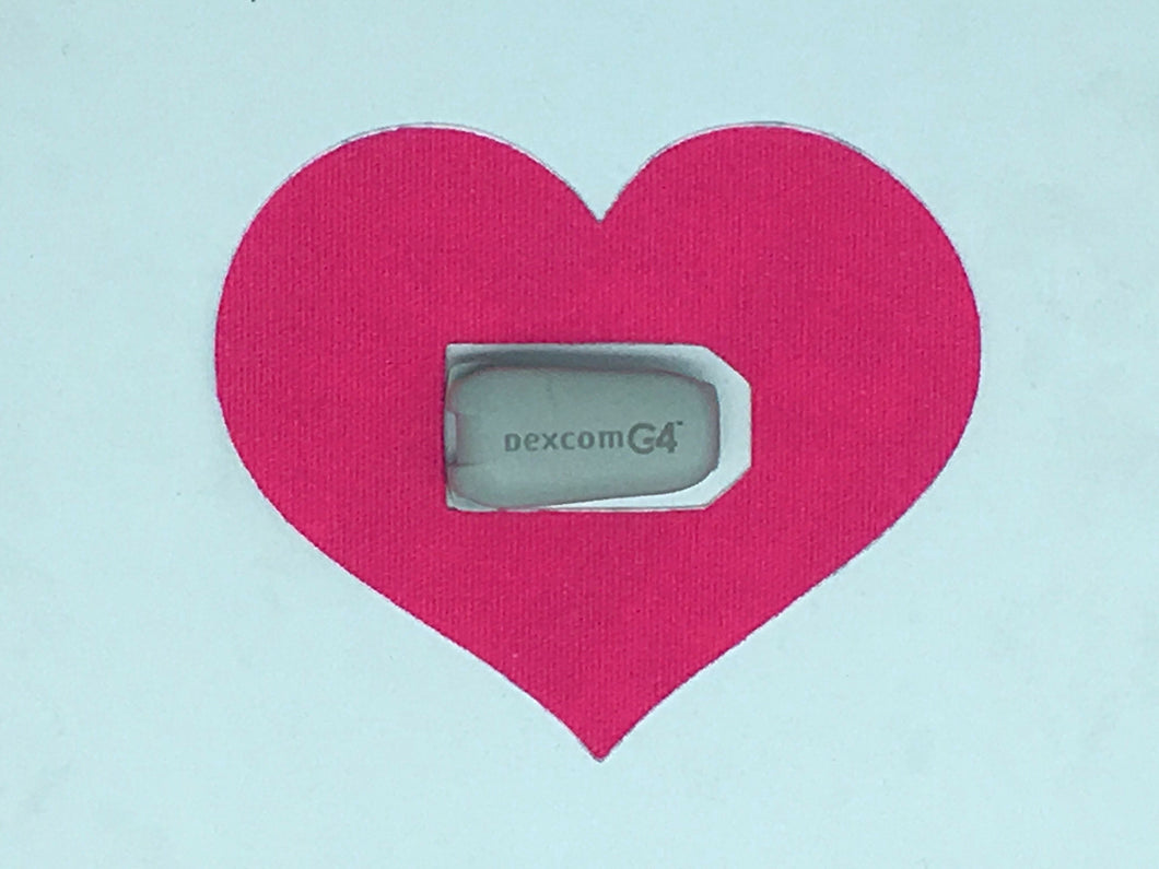 Diabetes HQ - RockaDex - Type 1 - Dexcom - CGM Transmitter Patches - Heart shape