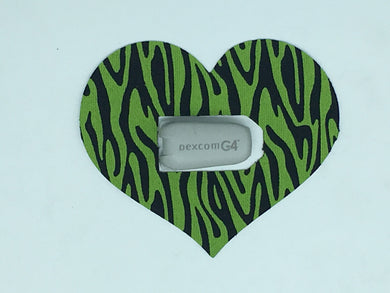 Diabetes HQ - Dexcom - CGM Transmitter Patches - Heart shape