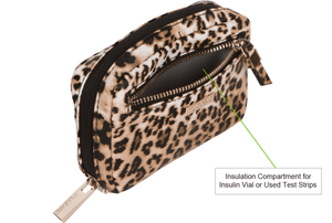 Diabetes HQ - James Diabetes Compact Meter Case - Leopard