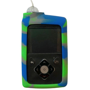 Diabetes HQ - Insulin Pump Cover for Medtronic Pump - Blue / Green / Grey