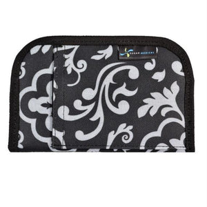 Diabetes HQ - Sugar Medical - Black Damask - Diabetes Universal Supply Case - Wallet