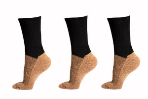 Diabetes HQ - Unisex - Diabetic Black Socks - Single Sock Pack
