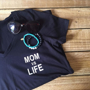 "Hand Printed Sweater/Vest/Tee ""Mom vs Life"""